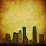 Grunge image of singapore skyline Stock Photo
