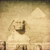 Grunge image of sphynx Royalty Free Stock Photos