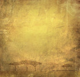 Grunge image of a tree on a vintage paper Stock Images