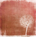 Grunge image of a tree on a vintage paper Stock Photo