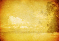 Grunge image of tropical beach Royalty Free Stock Photography