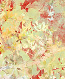 Grunge Impressionist Flower Abstract on Paper Stock Image