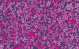 Grunge inconsútil Daisy Flower Abstract Vector Background Imagenes de archivo