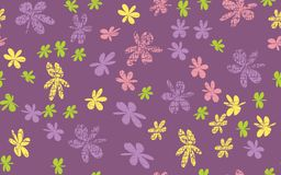 Grunge inconsútil Daisy Flower Abstract Vector Background Foto de archivo