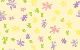 Grunge inconsútil Daisy Flower Abstract Vector Background Imagen de archivo