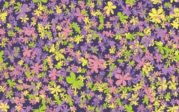 Grunge inconsútil Daisy Flower Abstract Vector Background Imágenes de archivo libres de regalías