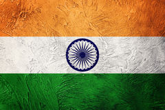 Grunge India flaga India flaga z grunge teksturą Obraz Royalty Free