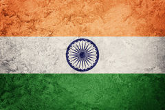 Grunge India flaga India flaga z grunge teksturą Zdjęcie Royalty Free