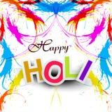 Grunge indio hermoso Holi feliz del festival ilustración del vector