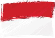 grunge Indonesia bandery Monako Obraz Royalty Free