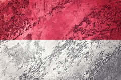 Grunge Indonesia flag. Indonesia flag with grunge texture. vector illustration