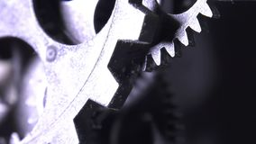Grunge industrial abstrato Rusty Metallic Clock Gears vídeos de arquivo