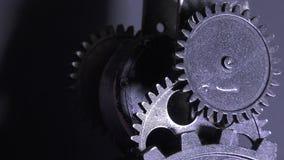Grunge industrial abstrato Rusty Metallic Clock Gears filme