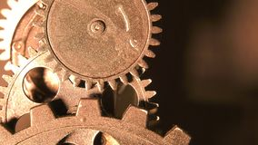 Grunge industrial abstrato Rusty Metallic Clock Gears filme