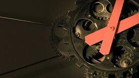 Grunge industrial abstrato Rusty Metallic Clock Gears video estoque