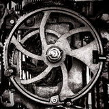 Grunge Industrial Antique Machine Old Cog Wheel Stock Photography