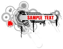 Grunge Industrial Banner. Grunge Industrial Circles Banner. Vector Illustration. No Meshes Royalty Free Stock Image