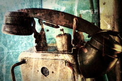 Grunge industrial phone. Scratched surface Royalty Free Stock Images