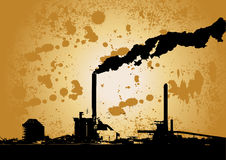 Grunge Industrieauslegung Stockfotografie