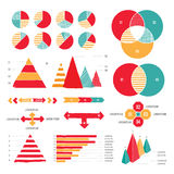 Grunge infographics Fotografia Stock