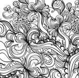 Grunge ink background. Decorative hand drawn black and white background Royalty Free Stock Images