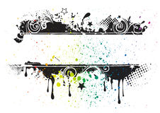 grunge ink banner Stock Images