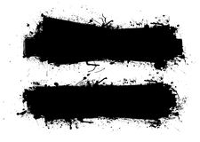 Grunge ink banner black Royalty Free Stock Image