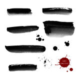 Grunge ink banners and blots Royalty Free Stock Photos