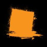Grunge ink blots orange Royalty Free Stock Images