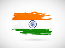 Grunge ink indian flag illustration Stock Photo