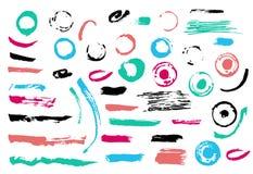 Grunge Brush Stroke set royalty free illustration