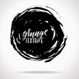 Grunge ink round brush strokes. Freehand black brushes. Handdrawn dry brush black smears. Modern vector illustration. vector illustration