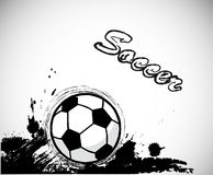 Grunge ink,soccer ball design element. Vector Royalty Free Stock Photos