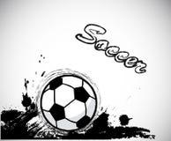 Grunge ink,soccer ball design element. Vector Royalty Free Stock Photos