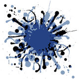 Grunge ink splat. Royalty Free Stock Photos