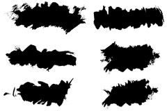 Grunge ink splat brush Stock Photos