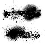 Grunge ink splat pair Stock Photography