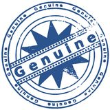 Grunge round rubber ink stamp GENUINE royalty free stock photo