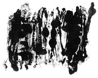 Grunge ink texture isolated on white Royalty Free Stock Photography