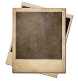 Grunge instant photo polaroid frames isolated Royalty Free Stock Image
