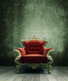 Grunge interior. Grunge rusty old interior and a frame Royalty Free Stock Photo