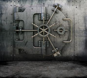 Grunge interior with bank vault Royalty Free Stock Photos