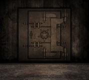 Grunge interior with bank vault Stock Images