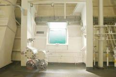 Grunge interior of battleship Royalty Free Stock Image