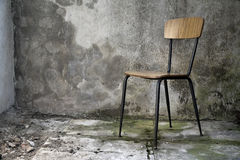 Grunge interior with chair Royalty Free Stock Photography
