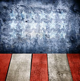 Grunge interior Dark blue wall texture. With painted on wall Stock Images