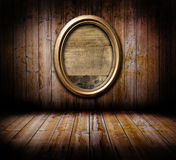 Grunge interior with frame Stock Image