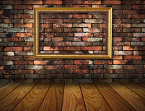 Grunge interior frame against wall Stock Photo