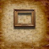 Grunge interior with frames in style baroque Royalty Free Stock Images
