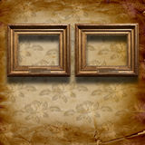 Grunge interior with frames in style baroque Royalty Free Stock Photography